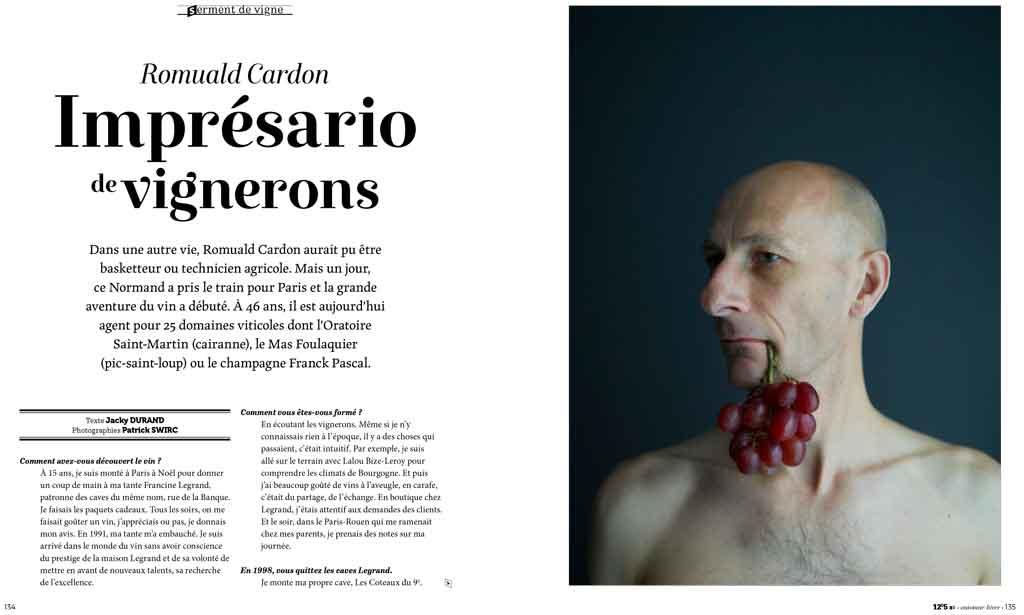 Presse 12,5° portrait Romuald Cardon page 1